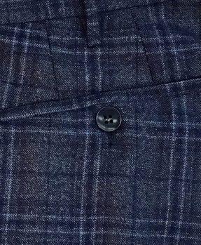 Pantaloni Rota pura lana quadri (3) dettaglio