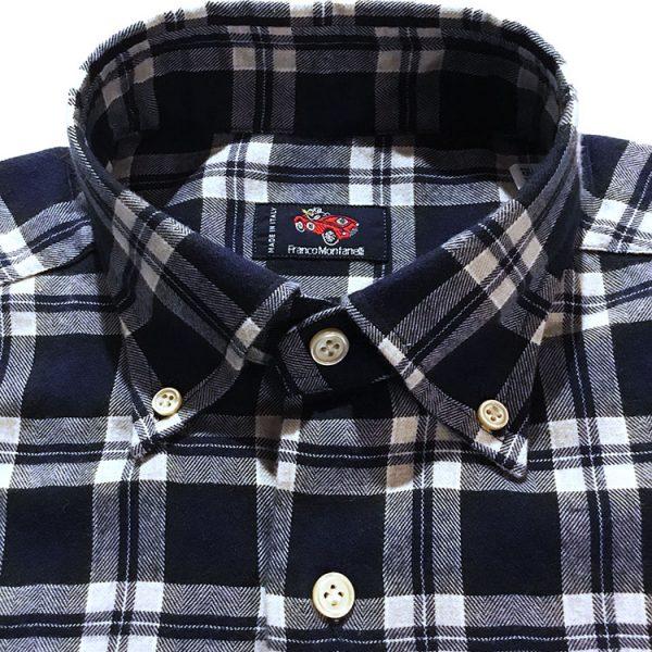 Camicia flanella quadri blu 3