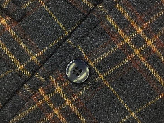 Pantaloni Rota pura lana quadri dettaglio
