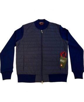 Blouson zip merino - blu
