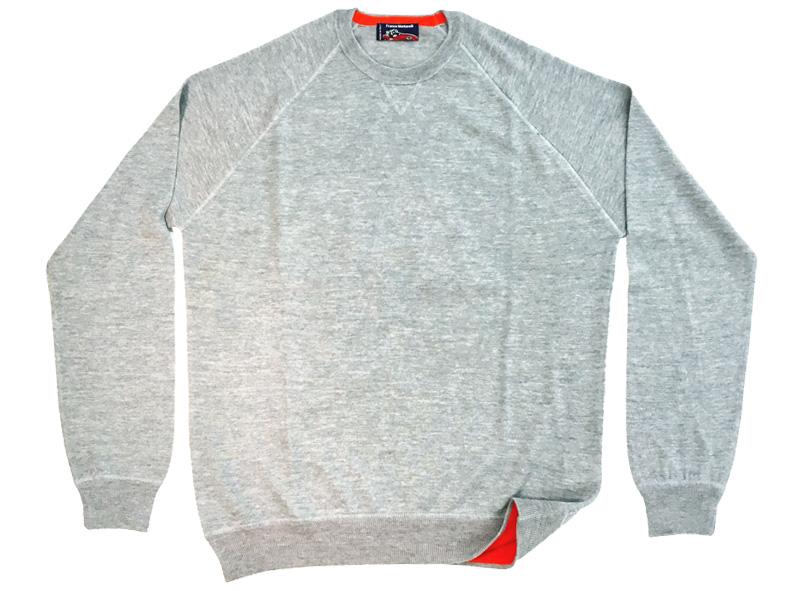 Maglia girocollo lana K-Wool - grigio full