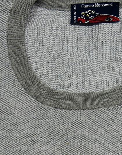 Girocollo cotone jacquard