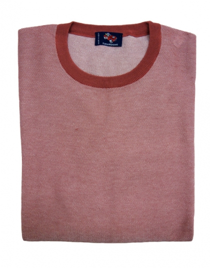 girocollo cotone jacquard rosa