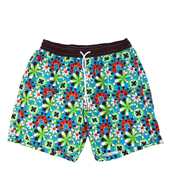 Shorts mare fantasia marrone