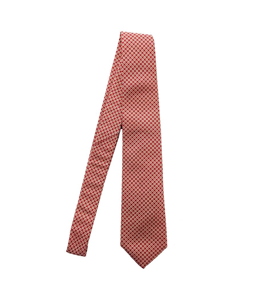 Cravatta cotone-seta rosso