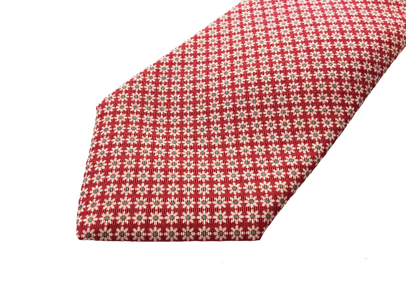 Cravatta cotone-seta rosso1