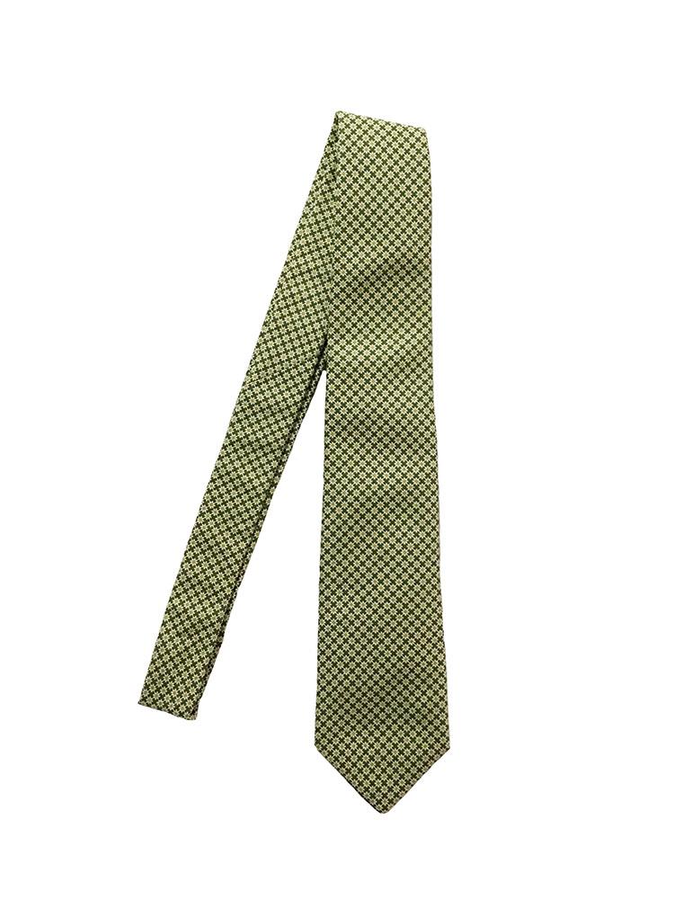 Cravatta cotone-seta verde