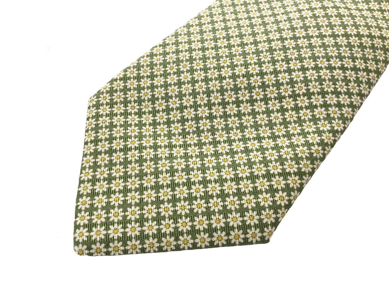 Cravatta cotone-seta verde1