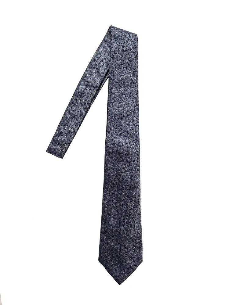 Cravatta seta jacquard azzurro