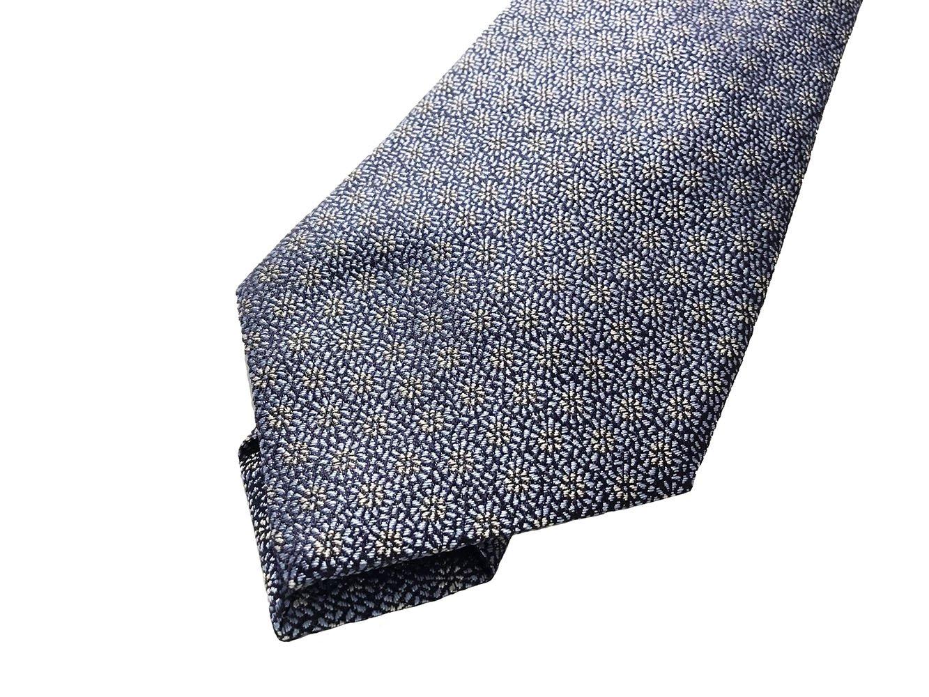 Cravatta seta jacquard azzurro1