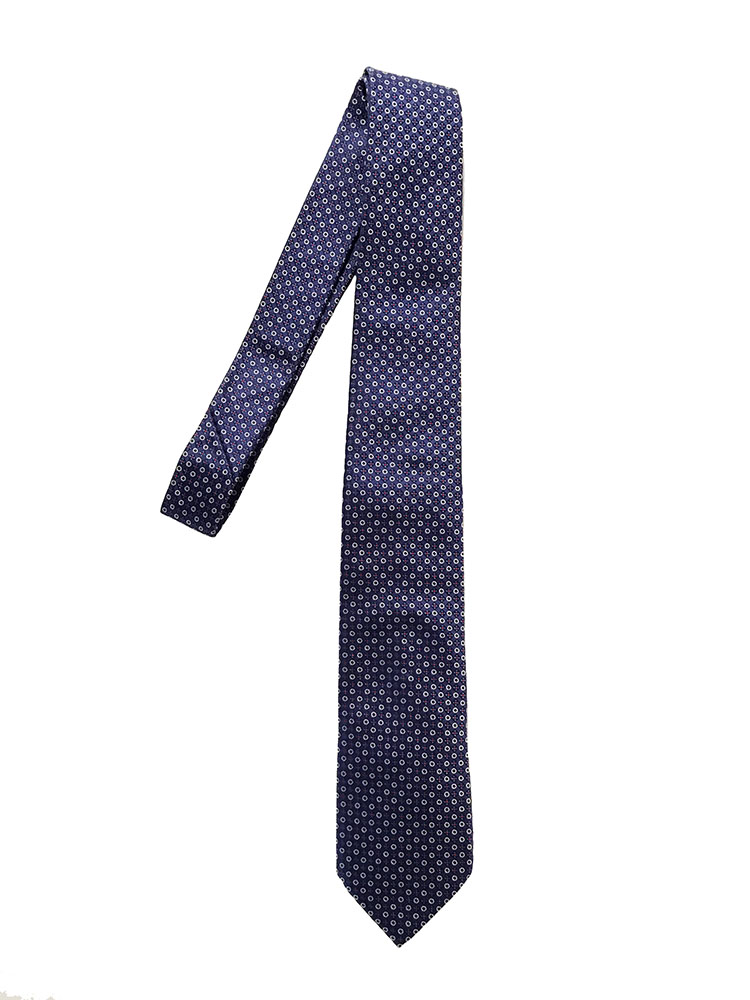 Cravatta seta jacquard blu
