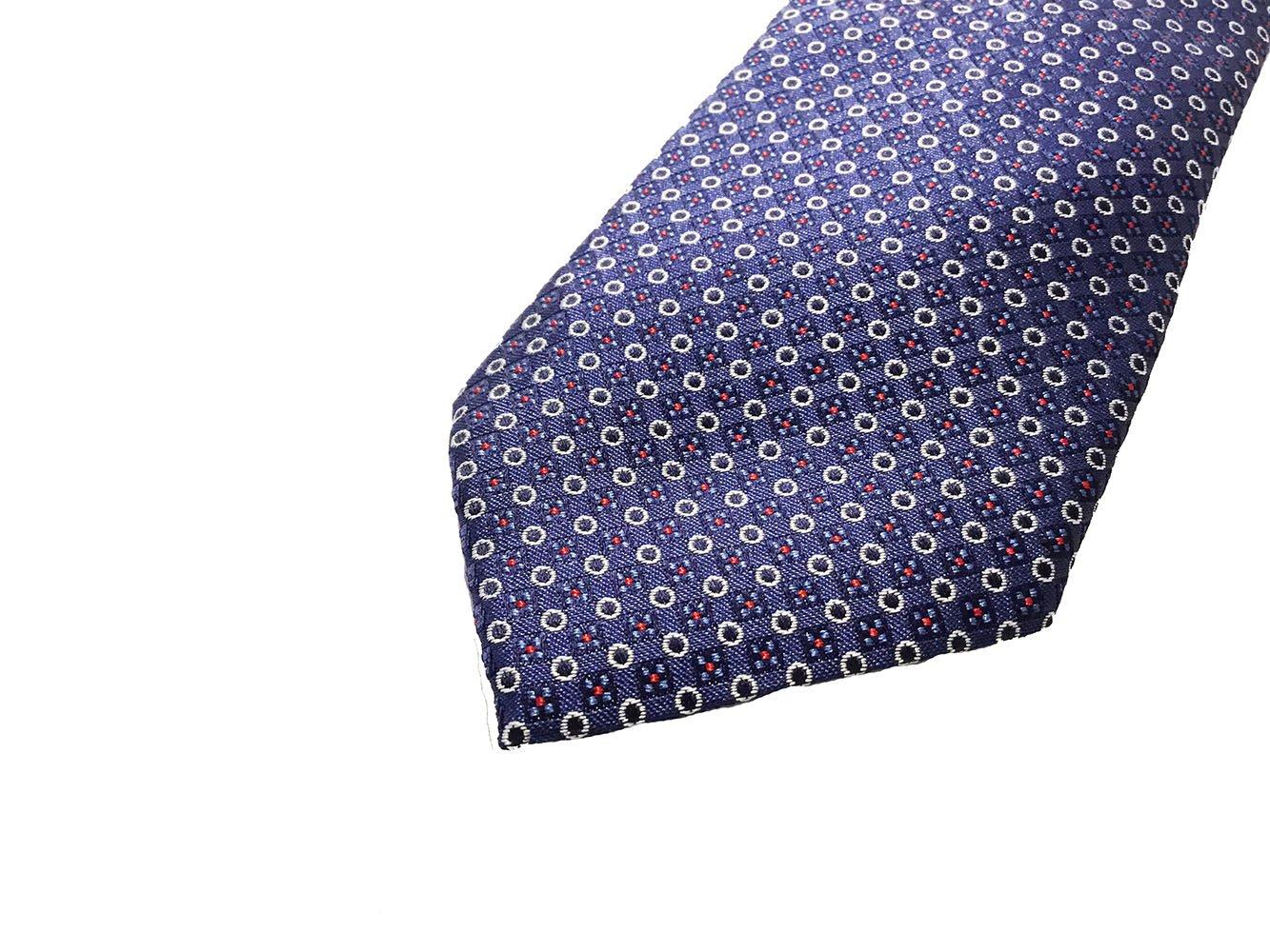 Cravatta seta jacquard blu1