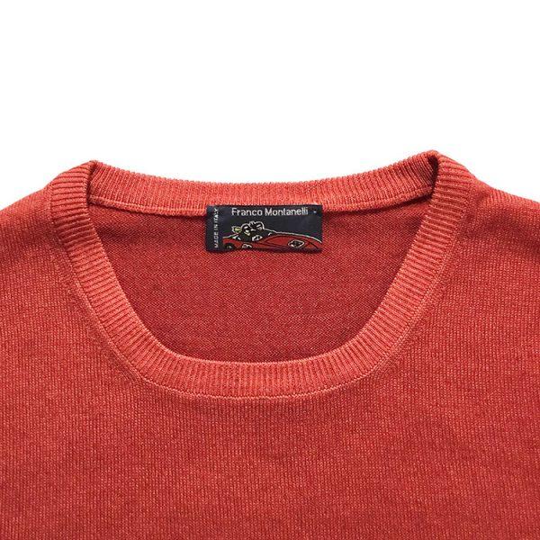 Girocollo lana merinos delavé rosso 1