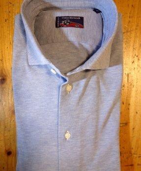 Blue cotton piquet shirt