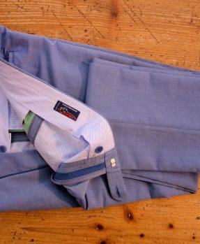 Rota light blue cotton trousers