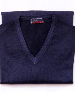 V neck merino wool sweater
