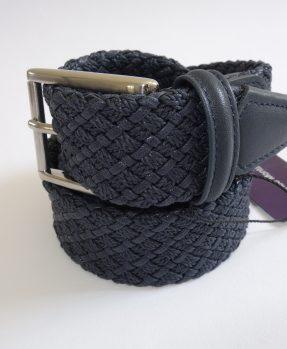 Navy blue braided belt Franco Montanelli