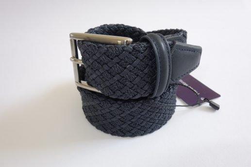 Cintura intrecciata blu Franco Montanelli