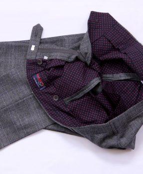 Pantaloni Rota quadri fodera