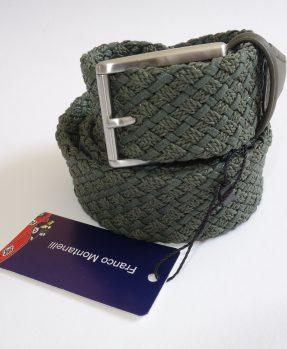 Cintura intrecciata verde Franco Montanelli