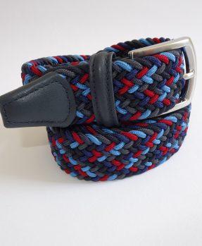 Cintura intrecciata multicolor blu